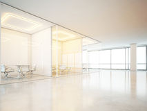 Office interior with panoramic windows Royalty Free Stock Photography