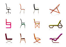 Office and interior chairs Stock Photography