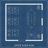 Office interior project top view plan Stock Photos