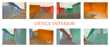 Office interior set Stock Photos