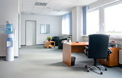 Office interior - small and simple royalty free stock photography