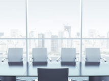 Office interior with table and chairs Royalty Free Stock Photos