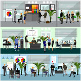 Office interior vector illustration. Royalty Free Stock Photo