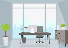 Office interior. Vector illustration. Vector illustration. Painted in shape stock illustration