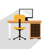 Office interior workplace Royalty Free Stock Photos