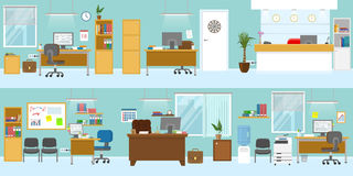 Office Interiors Template stock illustration