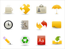 Office and internet icons set Royalty Free Stock Photo
