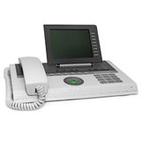 Office IP phone with big empty space display Royalty Free Stock Image