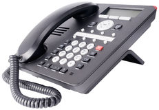 Office IP telephone isolated on white Royalty Free Stock Photo