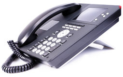 Office IP telephone with LCD Stock Image