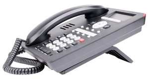 Office IP telephone set Royalty Free Stock Photos