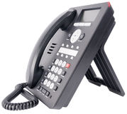 Office IP telephone on white Stock Photo