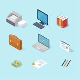 Office isometric icon set Royalty Free Stock Photos