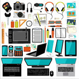 Office items and accessories. Royalty Free Stock Images