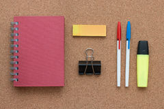 Office items and business elements on a desk. Stock Photo