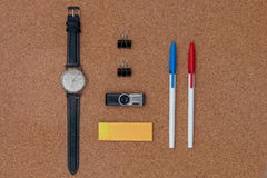 Office items and business elements. Stock Images