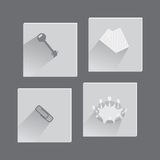 Office Items and Concepts in Set of Icons Royalty Free Stock Image