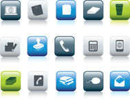 Office items icon Stock Images