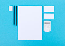 Office items for presentation stock photography