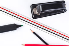 Office items, scaler. Stock Image