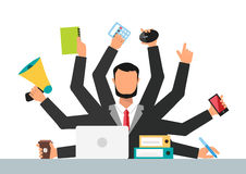 Office job stress work vector illustration Royalty Free Stock Images