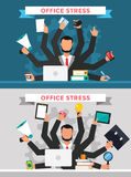 Office job stress work vector illustration Royalty Free Stock Image