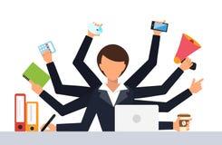 Office job stress work vector illustration Stock Photos