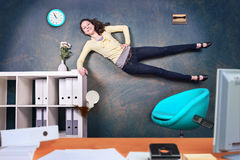 Office jump Stock Images
