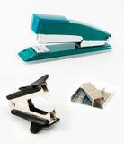 Office kit. Kit of stepler, staple remover and brackets for a stapler Royalty Free Stock Image