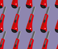 Office knife seamless pattern. Office knife  background. R Royalty Free Stock Image