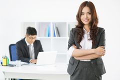 Office lady Stock Image