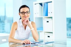 Office lady Royalty Free Stock Photography