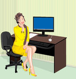 Office lady Royalty Free Stock Photos