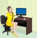 Office lady royalty free illustration