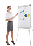 Office lady during business presentation Stock Photography
