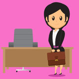 Office Lady Carrying Bag Royalty Free Stock Images