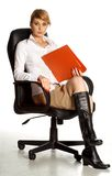 Office lady in chair Stock Photography