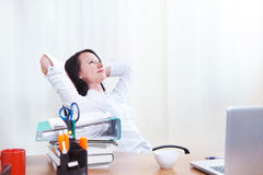 Office lady dreaming Royalty Free Stock Images