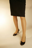 Office lady feet with heels Royalty Free Stock Photos