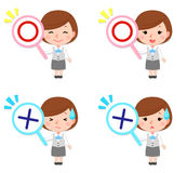 Office lady gestures. An illustration of office lady gestures Royalty Free Stock Images