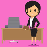 Office Lady in Office Stock Image