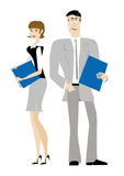 Office lady office man. Office lady&man at work Royalty Free Stock Photos