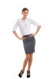 Office lady posing for photo Stock Photos