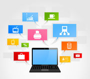 Office laptop Royalty Free Stock Photography