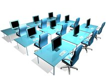 OFFICE LCD MONITOR. 3d model of lcd monitor in the office royalty free illustration
