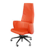 Office leather red chair Royalty Free Stock Photography