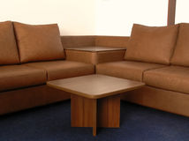 Office leather sofa Stock Image