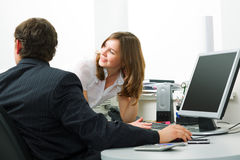 Busines people at office Royalty Free Stock Images