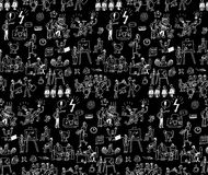 Office life black and white seamless pattern business people. Royalty Free Stock Photos