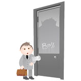 Office life - boss door Royalty Free Stock Image